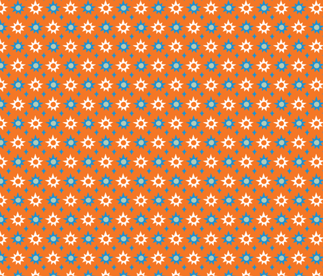 Big & Bright Stars - orange fabric by acbeilke on Spoonflower - custom fabric