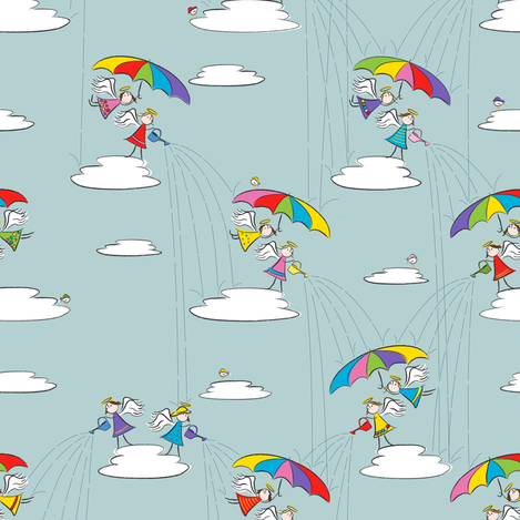Trying to make a rainy day fabric by tripledot on Spoonflower - custom fabric