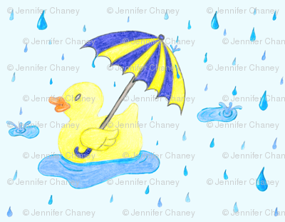 Rubber_Duckie_in_the_Rain