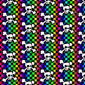 Checker Rainbow Skull