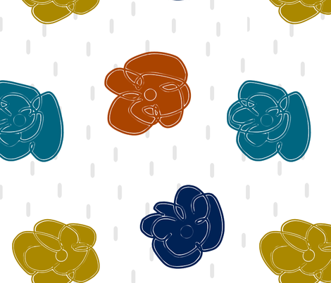 Rain Blossoms fabric by lana_kole on Spoonflower - custom fabric