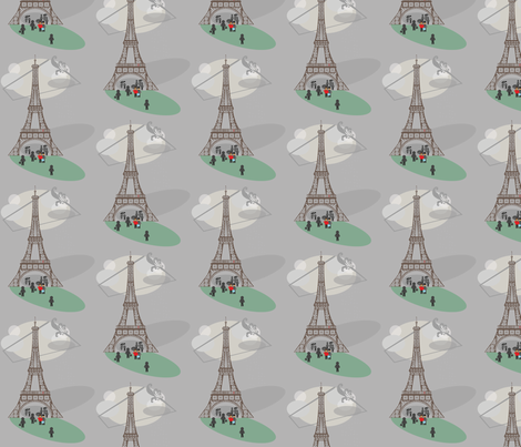 parisrainyday-ed fabric by bussybuffu on Spoonflower - custom fabric