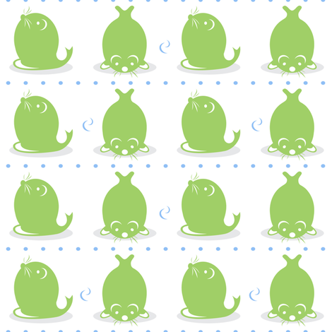 Baby Boy Antarctic Seal fabric by doodletrain on Spoonflower - custom fabric