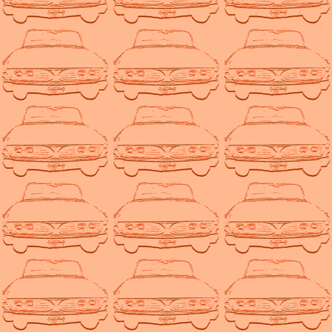 1960 Edsel shadow in peach fabric by edsel2084 on Spoonflower - custom fabric