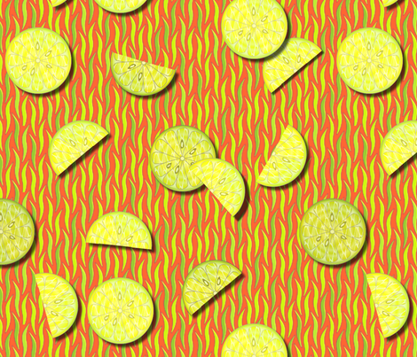 © 2011 citrus fresh fabric by glimmericks on Spoonflower - custom fabric