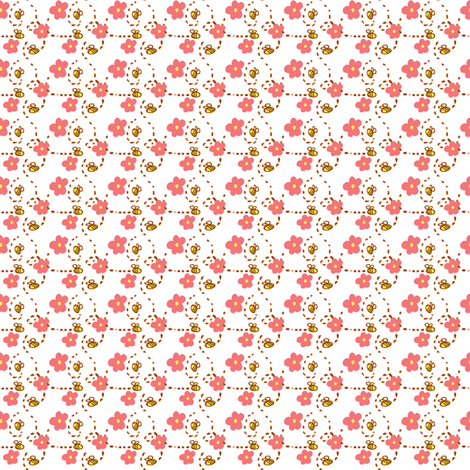 busy bees fabric by fabricfarmer_by_jill_bull on Spoonflower - custom fabric