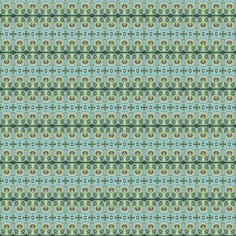 Grandmother's green calico fabric by edsel2084 on Spoonflower - custom fabric