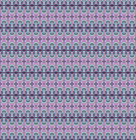 Grandmother's purple calico fabric by edsel2084 on Spoonflower - custom fabric
