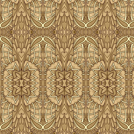 Easter in sepia fabric by edsel2084 on Spoonflower - custom fabric