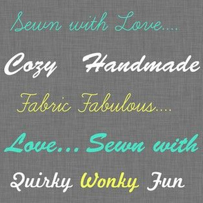 Sewing love in gray