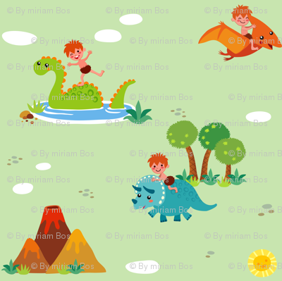 Fun with Dinosaurs | Green
