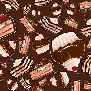 Chocolate kawai cake