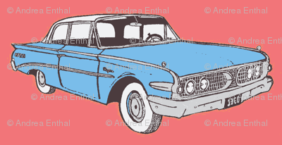 1960 Edsel Ranger 2 door sedan Ranger in light blue