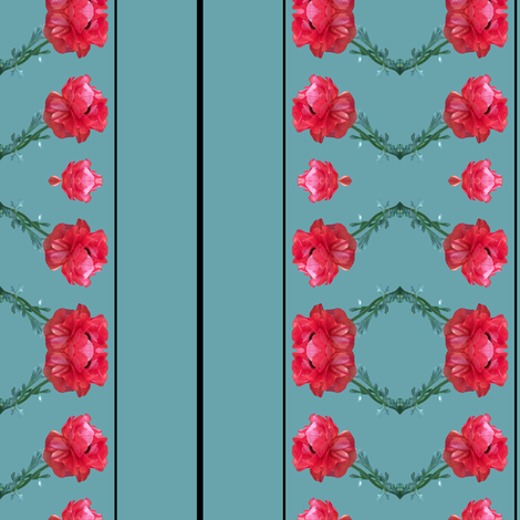 Poppy Ribbons fabric by pond_ripple on Spoonflower - custom fabric