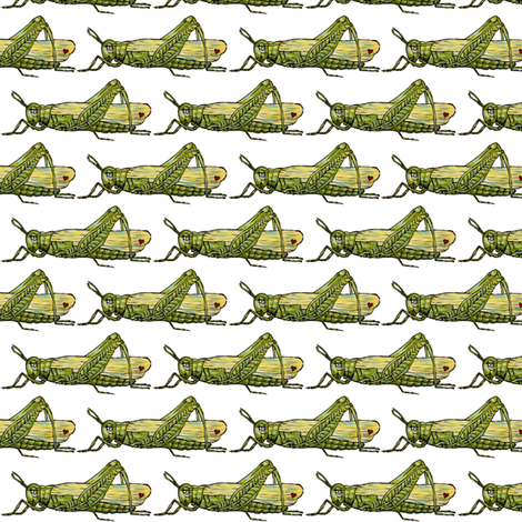 Grasshoppers fabric by taraput on Spoonflower - custom fabric