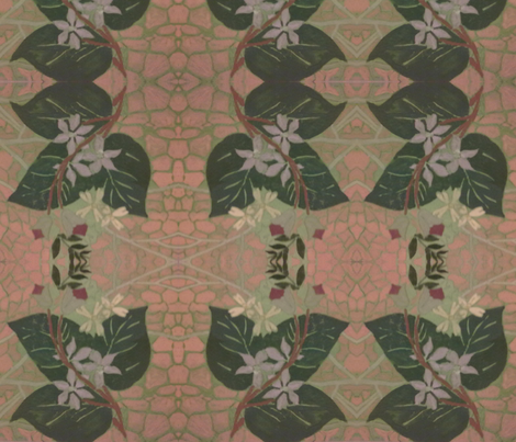 garden leaf fabric by raasma on Spoonflower - custom fabric