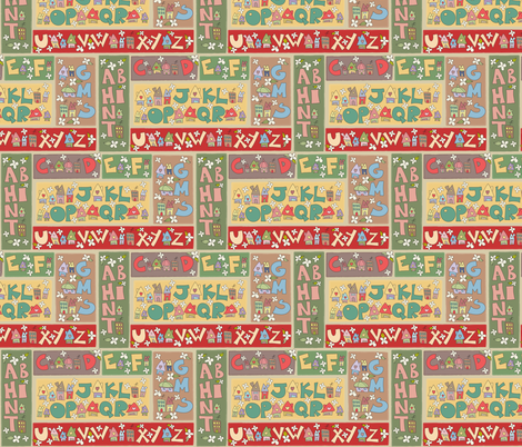 [SMALL] Alphy Cottages fabric by catru on Spoonflower - custom fabric