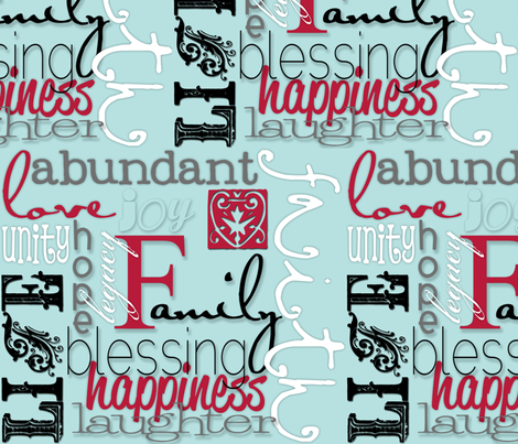 Family fabric by artsycanvasgirl on Spoonflower - custom fabric