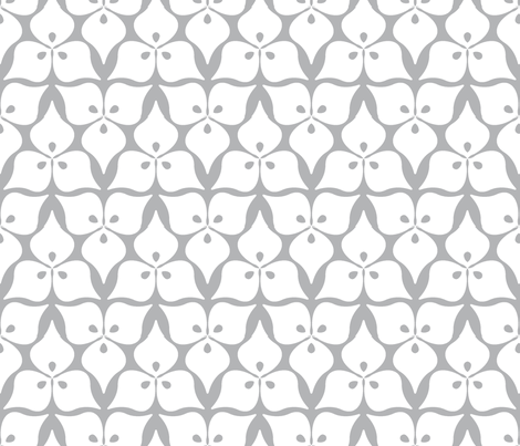 three leaves grey fabric by myracle on Spoonflower - custom fabric