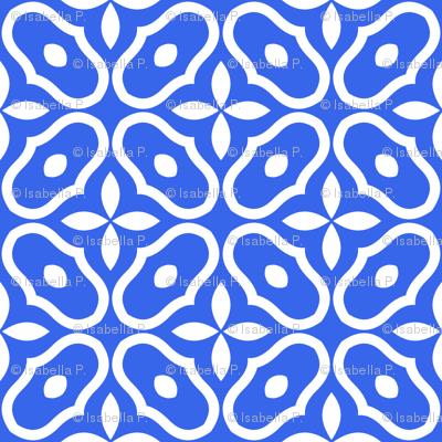 Mosaic -  Modern Royal Blue