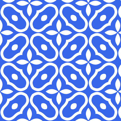Mosaic -  Modern Royal Blue fabric by inscribed_here on Spoonflower - custom fabric
