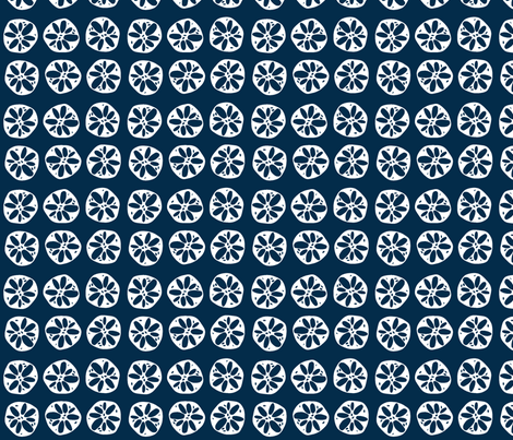 lotus root - navy fabric by clearlytangled on Spoonflower - custom fabric