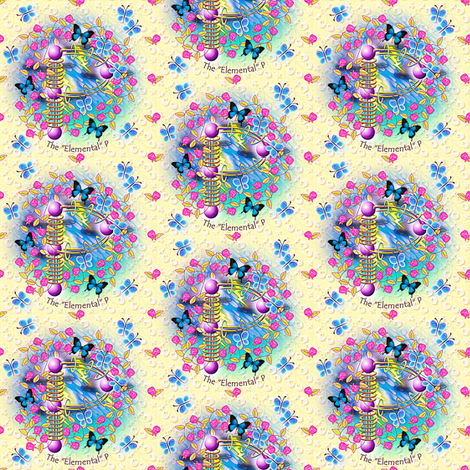 "© 2011 The ""Elemental"" P - enhanced version fabric by glimmericks on Spoonflower - custom fabric"