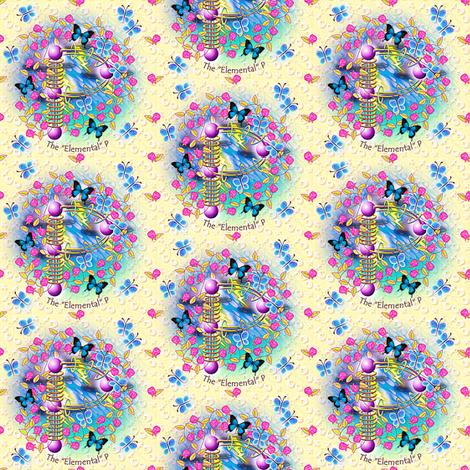 "© 2011 The ""Elemental"" P - enhanced version fabric by glimmericks on Spoonflower - custom fabric"