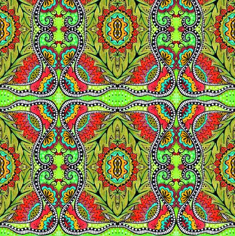 peek fabric by chelmers on Spoonflower - custom fabric