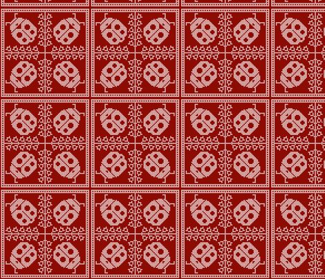 Ladybird Dance fabric by nezumiworld on Spoonflower - custom fabric