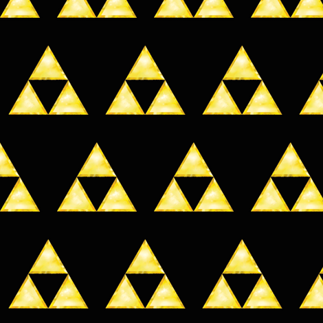 Zelda Triforce fabric by pseudolus on Spoonflower - custom fabric