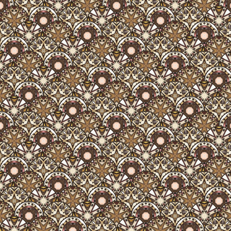 Chocolate Spade Disks fabric by siya on Spoonflower - custom fabric