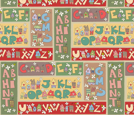 Alphy Cottages fabric by catru on Spoonflower - custom fabric