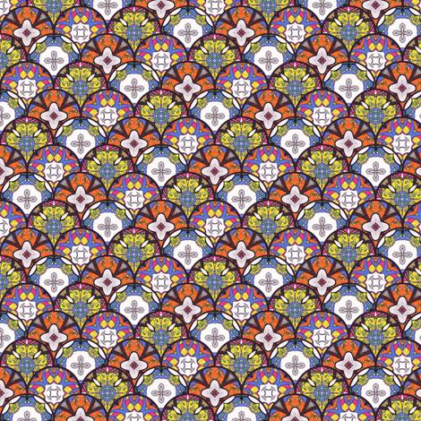 Bija's Disks - Scalloped fabric by siya on Spoonflower - custom fabric