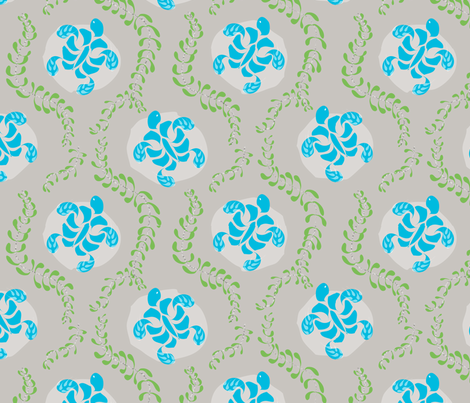 "SEATURTLE in ""STONE"" fabric by trcreative on Spoonflower - custom fabric"