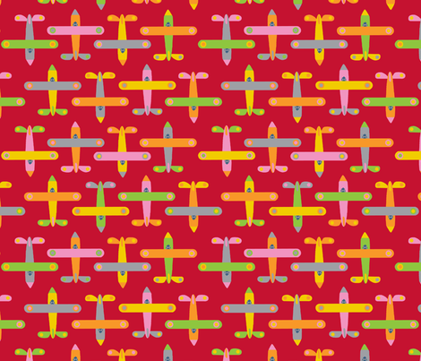 avion_rouge fabric by nadja_petremand on Spoonflower - custom fabric