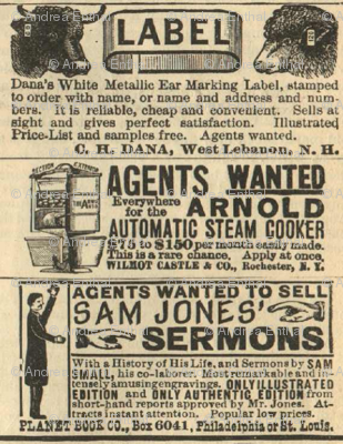 Agents Wanted to Sell Sam Jones' Sermons