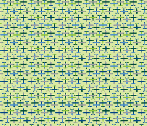 avion_vert_S fabric by nadja_petremand on Spoonflower - custom fabric