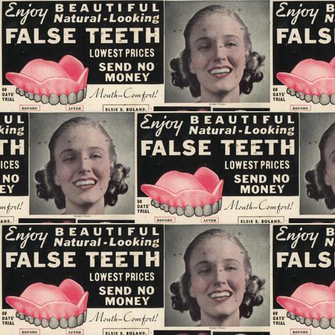 Enjoy Beautiul False Teeth fabric by edsel2084 on Spoonflower - custom fabric
