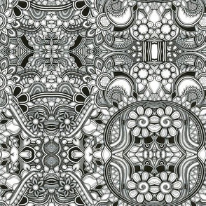 Black and white pattern no.11