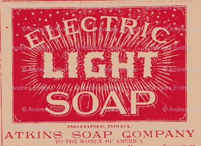 Atkins Electric Light Soap ad