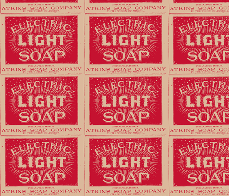 Atkins Electric Light Soap ad fabric by edsel2084 on Spoonflower - custom fabric