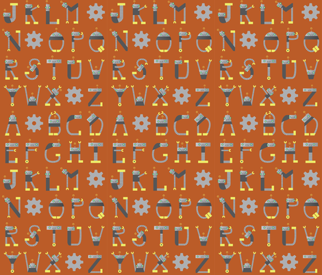 Alphabots fabric by jenelling on Spoonflower - custom fabric