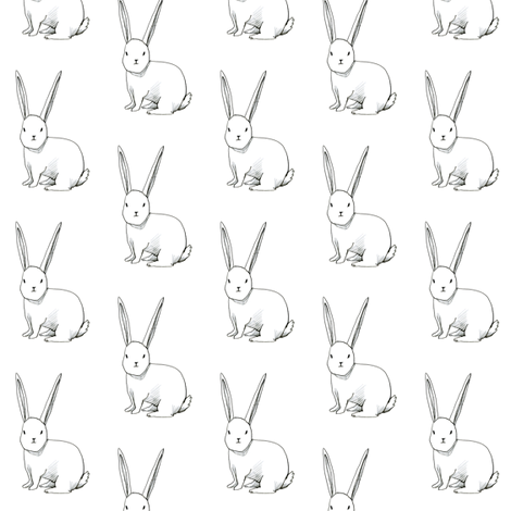 bitty bunny fabric by merrileeliddiard on Spoonflower - custom fabric
