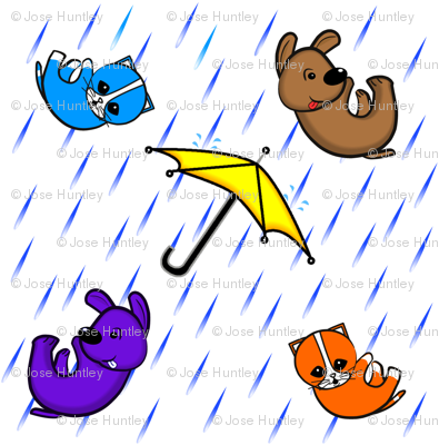 raining cats & dogs