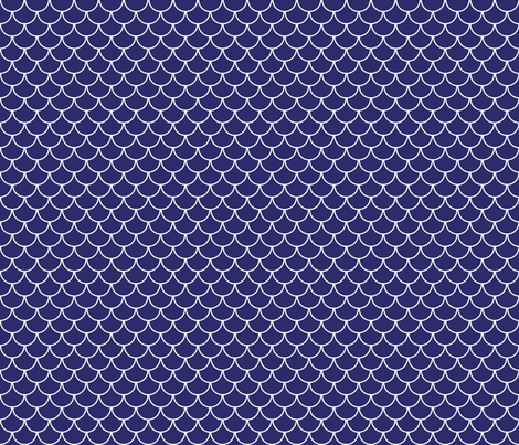 blue scales white outline fabric by amybethunephotography on Spoonflower - custom fabric