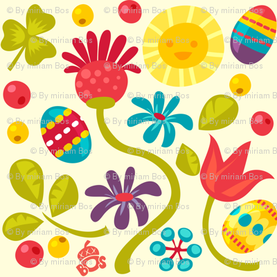 Floral Easter pattern