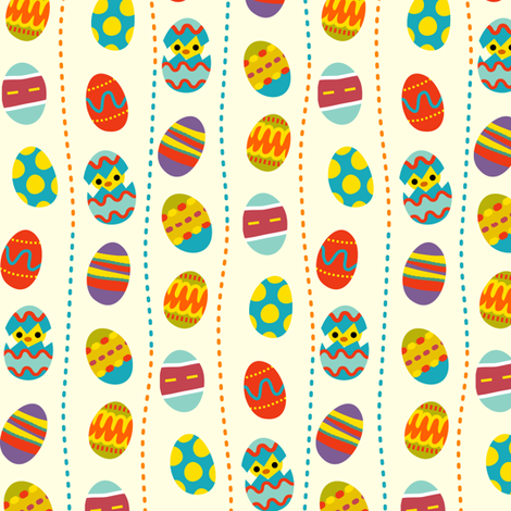 easter eggs! fabric by irrimiri on Spoonflower - custom fabric