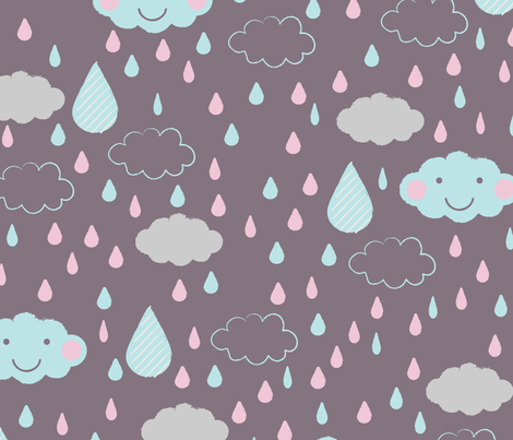 looks like happy rain fabric by mondaland on Spoonflower - custom fabric