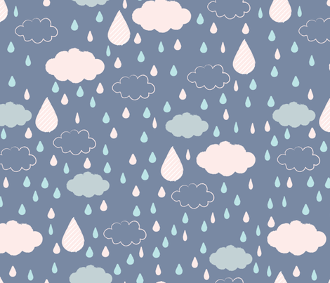 looks like rain fabric by mondaland on Spoonflower - custom fabric